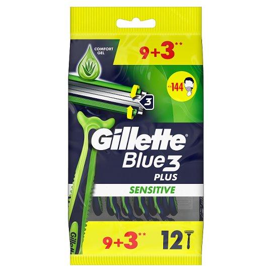 Gillette Blue3 Sensitive Men's Disposable Razors 9+3