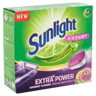 Sunlight Expert Extra Power Citrus Fresh Dishwashing Tabs 40 pcs 700 g