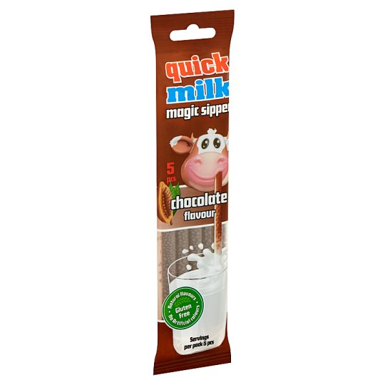 Quick Milk Magic Sipper Milk Flavouring Sipper with Chocolate Sugar Dragee 5 pcs 30 g