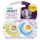 Philips Avent Classic Soother 0-6 Months 2 pcs