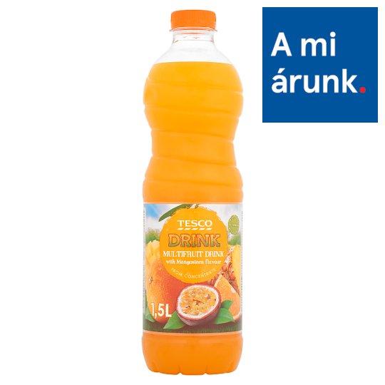 Tesco vegyes gyümölcsital mangosztán ízesítéssel, cukorral és édesítőszerrel 1,5 l