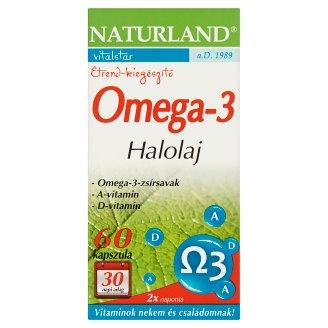 Naturland Vitalstar omega-3 halolaj étrend-kiegészítő lágyzselatin kapszula 60 db 34,9 g