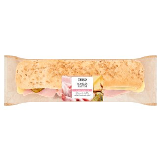 Tesco Baguette with Ham, Edami Cheese, Tortilla Sauce, Pickled Gherkin and Spring Onion 236 g