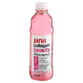 Jana Collagen Beauty Non-Carbonated, Alcohol-Free Rose and Raspberry Flavoured Soft Drink 500 ml