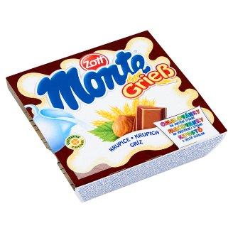 Zott Monte Gríz tejbegríz desszert csokoládéval és mogyoróval 4 x 55 g