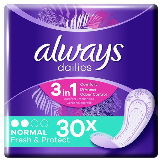 Always Dailies Fresh & Protect Panty Liners Normal x30