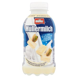 Müller Müllermilch White Chocolate-Pistachio Flavoured Low-Fat Drink 377 ml