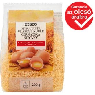 Tesco cérnácska 8 tojásos száraztészta 200 g