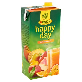 Rauch Happy Day 100% Multivitamin Juice from Concentrate and Puree Concentrate with 9 vitamins 2 l