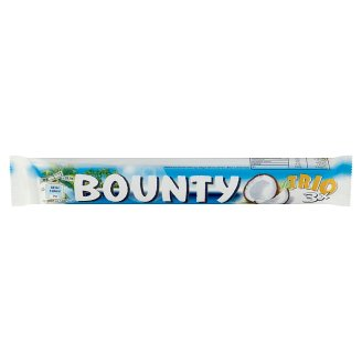 Bounty Trio Coconut Bars Coated with Milk Chocolate 3 pcs 85 g