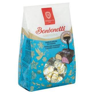 Bonbonetti Banana and Raspberry Flavoured Dessert with Chocolate 345 g