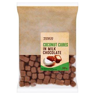 Tesco kókuszkocka tejcsokoládés bevonattal 500 g