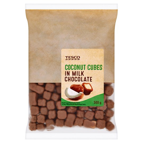 Tesco Coconut Cubes in Milk Chocolate 500 g