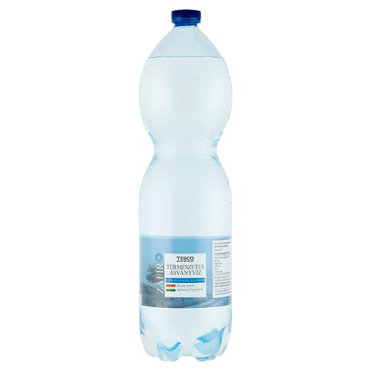 Tesco Zafír Sparkling Natural Mineral Water 1,5 l