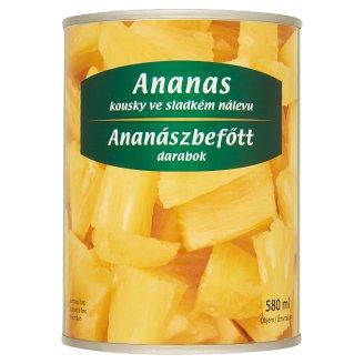 Ananászbefőtt darabok 565 g