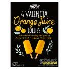 Tesco Finest Quick-Frozen Orange Juice on Stick 4 x 73 ml