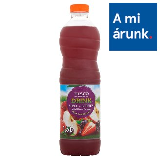 Tesco Apple & Berries Drink with Hibiscus Flavour, with Sugar and Sweetener 1,5 l