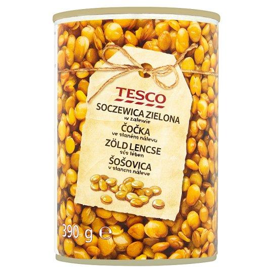 Tesco zöld lencse sós lében 390 g