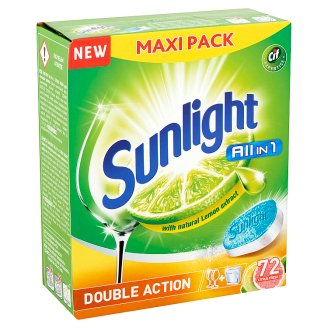 Sunlight All in 1 Double Action Citrus Fresh gépi mosogató tabletta 72 db 1260 g