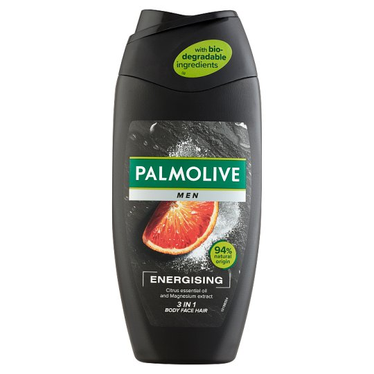 Palmolive Men Energising 2 in 1 tusfürdő és sampon 250 ml