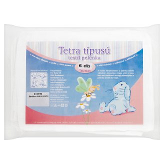 Tetra Type Textile Diapers 70 x 70 cm 6 pcs