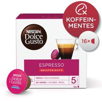 Nescafé Dolce Gusto Espresso Decaffeinato koffeinmentes őrölt pörkölt kávé 16 db 96 g