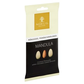 Nobilis Coconut Flavoured, White Chocolate Coated Almonds 100 g