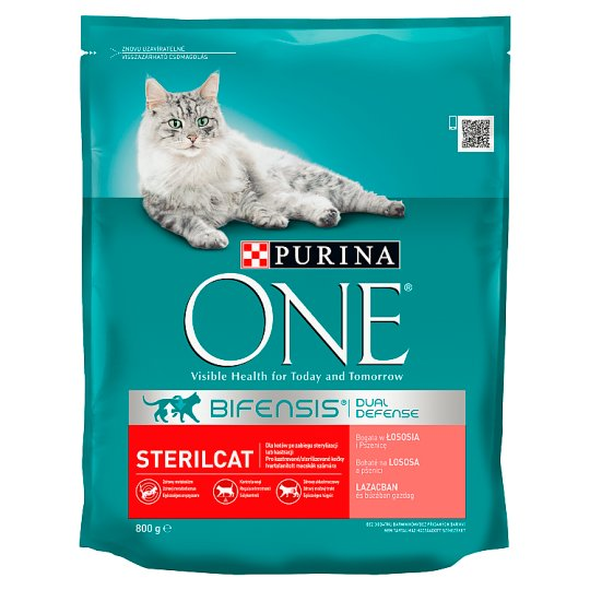 Purina One Sterilcat Complete Pet food for Adult Cats Rich in Salmon and Wheat 800 g