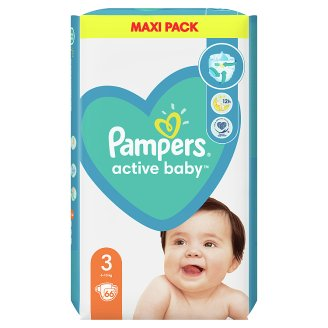 Pampers Active Baby Size 3, 66 Nappies, 6-10kg