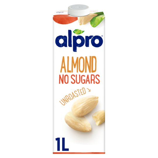 Alpro Unroasted and Unsweetened Almond Drink 1 l