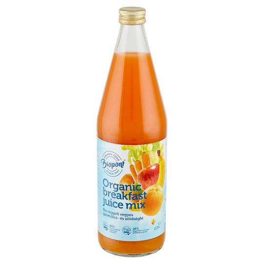 Biopont Organic Breakfast Mixed Fruit Juice with Carrot Juice 0,75 l