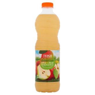 Tesco alma-körte gyümölcsital bodza ízesítéssel, cukorral és édesítőszerrel 1,5 l