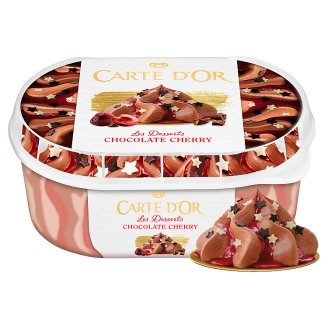 Carte D'Or Gelateria Chocolate Cherry Cherry Flavoured Ice Cream with Cherry Liqueur 900 ml