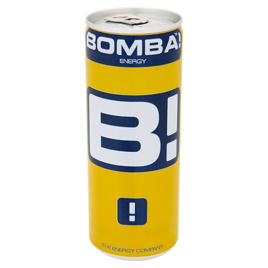 BOMBA! Carbonated Tutti-Frutti Flavoured Energy Drink with High Caffeine Content 250 ml