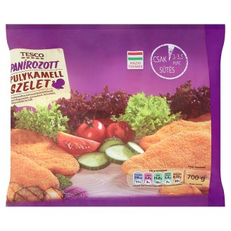 Tesco Quick-Frozen Breaded Turkey Breast Slices 700 g