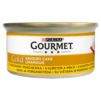 Gourmet Gold Complete Pet Food for Adult Cats with Chicken and Carrot 85 g