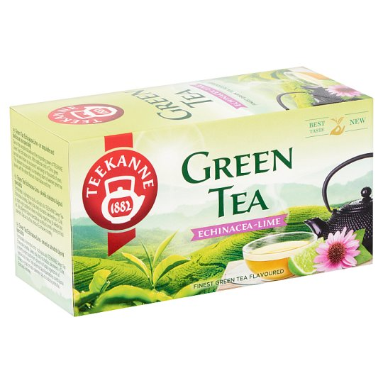 Teekanne Green Tea Echinacea-Lime Flavoured Tea 20 Tea Bags 35 g