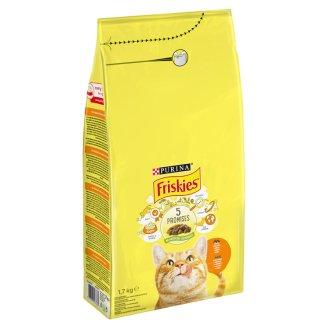 Friskies teljes értékű állateledel felnőtt macskák számára csirkével és zöldségekkel 1,7 kg