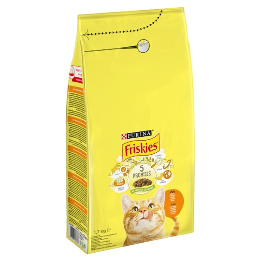 Friskies Complete Pet Food for Adult Cats with Chicken and Vegetables 1,7 kg
