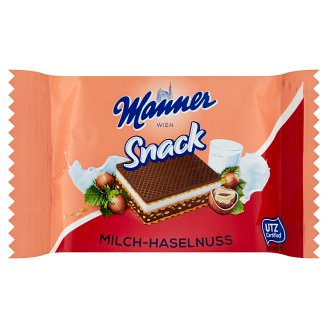 Manner Hazelnut and Cream Filled Wafer 25 g