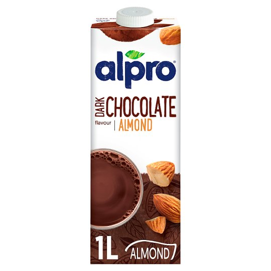 Alpro Almond Drink, Chocolate Flavour, with Added Calcium and Vitamins 1 l