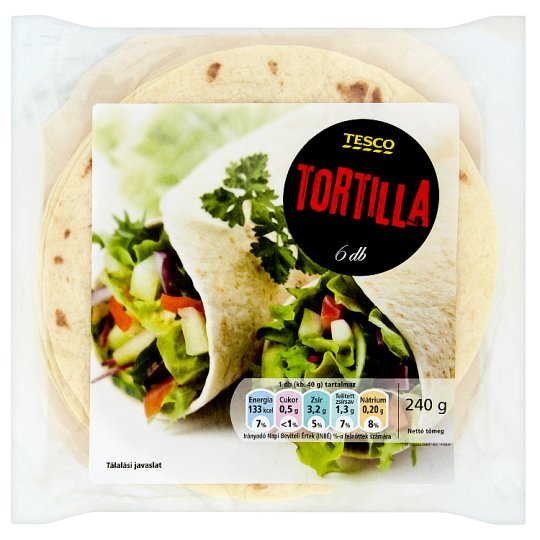 Tesco Tortilla Wraps 6 x 20 cm 240 g