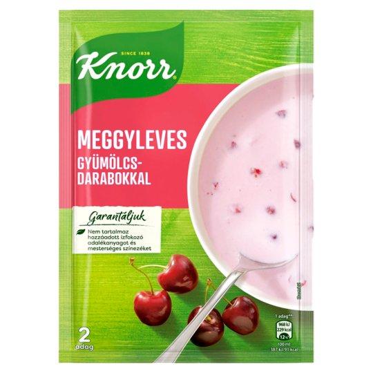 Knorr Frissítő Ízek Sour Cherry Soup with Fruit Pieces 56 g