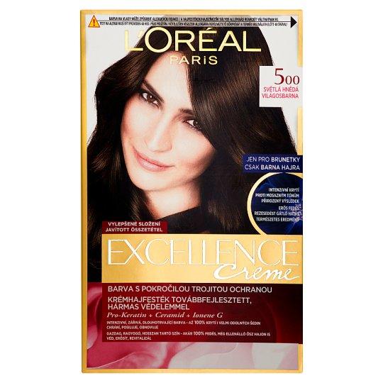 image 1 of L'Oréal Paris Excellence Creme 500 Light Brown Permanent Hair Colorant