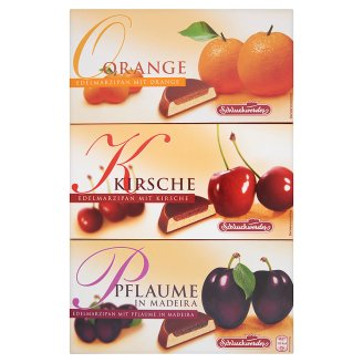 Schluckwerder Chocolate Coated Fruit Filled Marzipan 3 Flavours 300 g