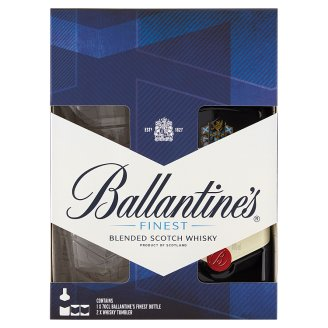 Ballantine's Finest Scotch Whisky with Two Glasses 40% 0 7 l