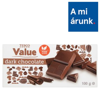 Tesco Value Dark Chocolate 100 g