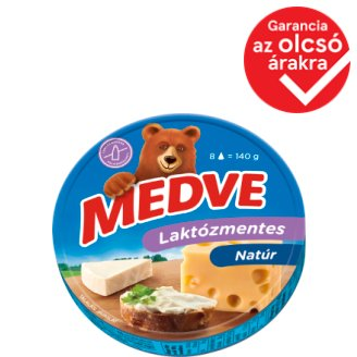 Medve Lactose-Free, High in Fat Processed Cheese Spread 8 pcs 140 g