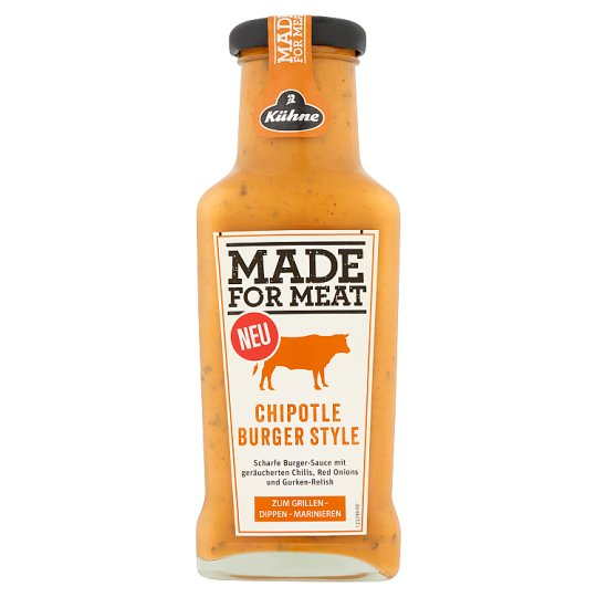 Kühne Made for Meat burger stílusú chipotle paprikás szósz 235 ml
