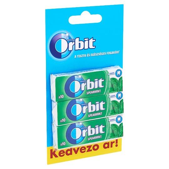 Orbit Spearmint mentaízű cukormentes rágógumi édesítőszerrel 3 x 14 g